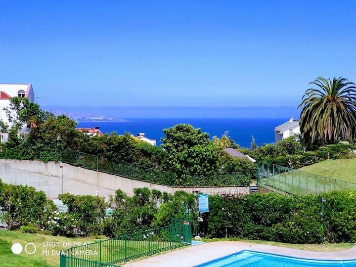 Casa condominio Reñaca piscina cerca playa sector5
