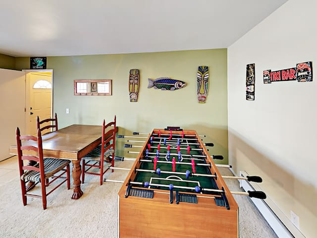 Play a game of foosball in the 1st-floor living area.