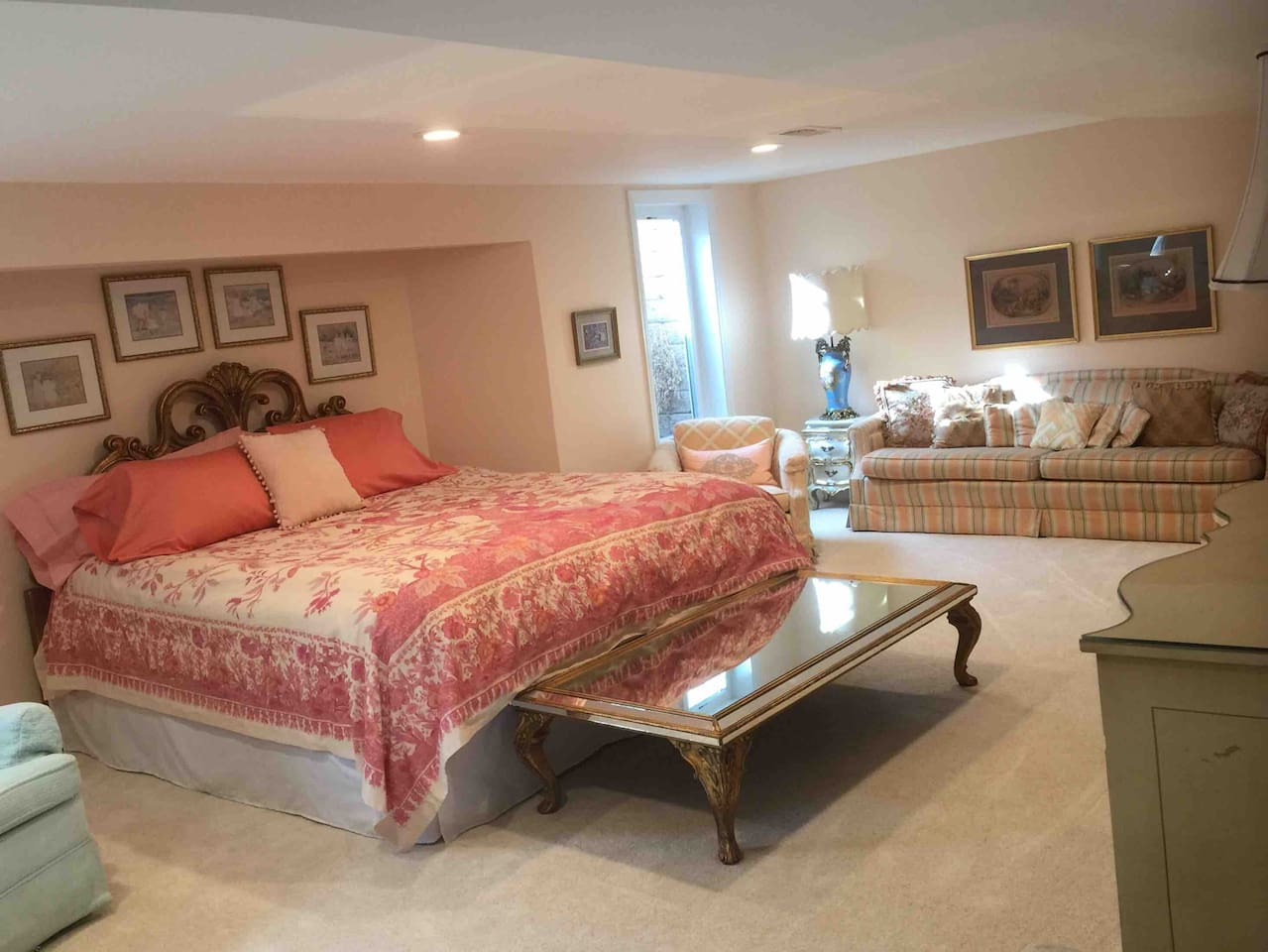 Open living area including king size bed