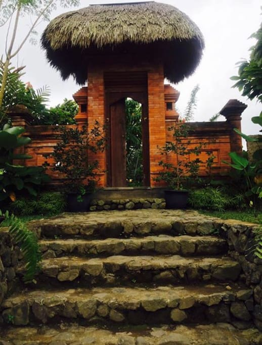 Our Balinese entrance... Welcome to Umah d'Alas Bali