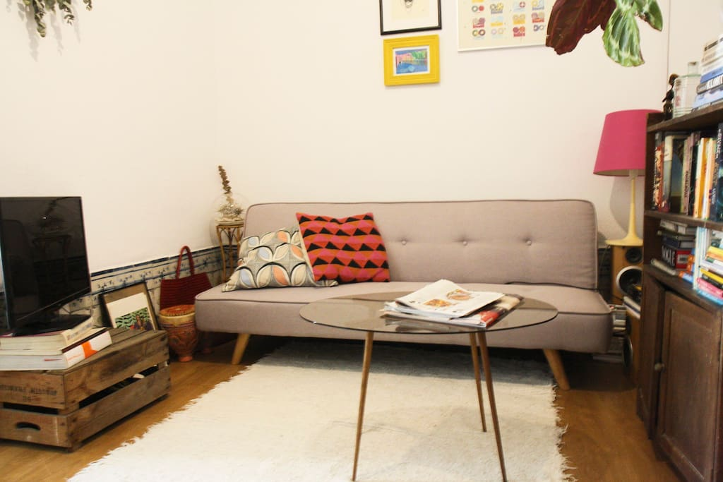 Adjoining living room
