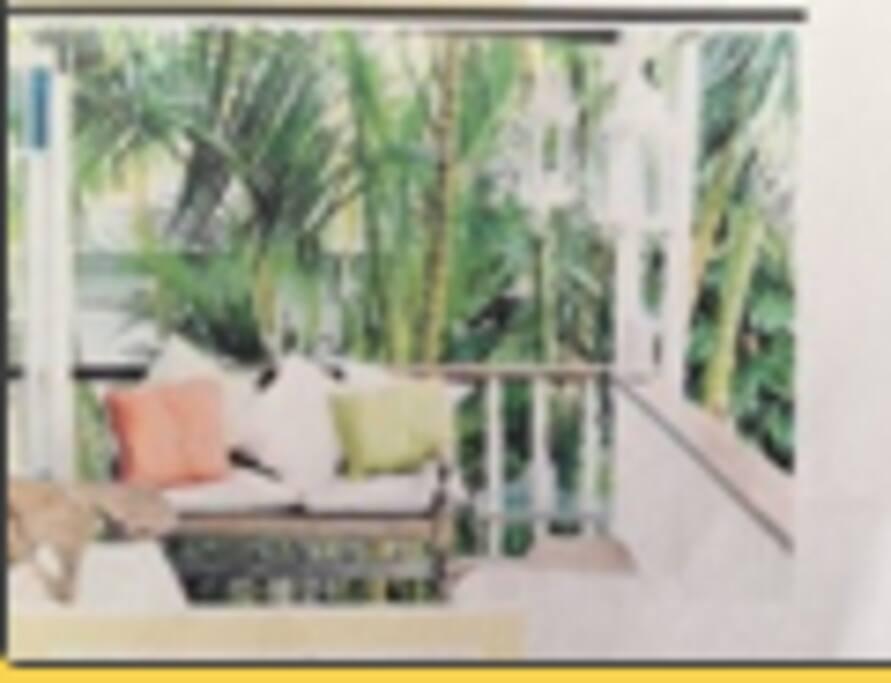 Sunny tropical verandah