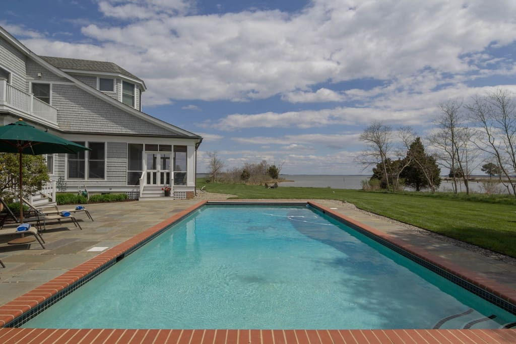 Pool House View
