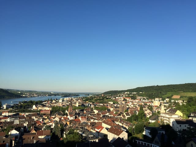 Apartment with fantastic view and pool - Bingen am Rhein - Daire