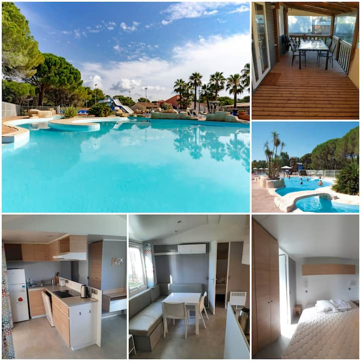 Mobilhome 6 personnes camping l'oasis 5*