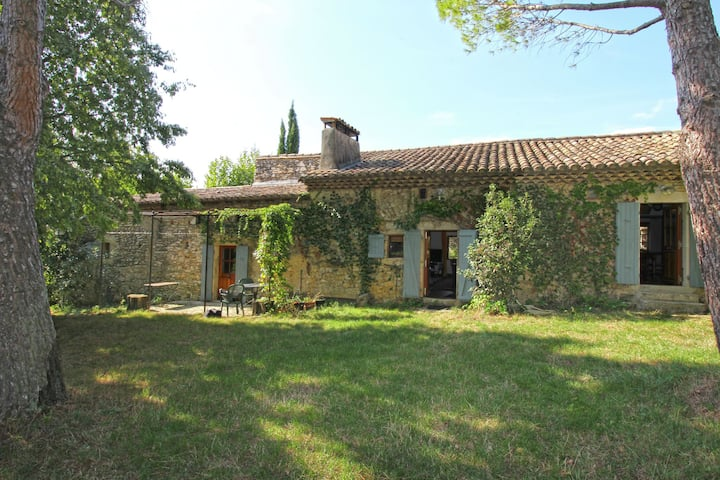 Characteristic country house with huge natural garden at 2 km from the village Sauzet