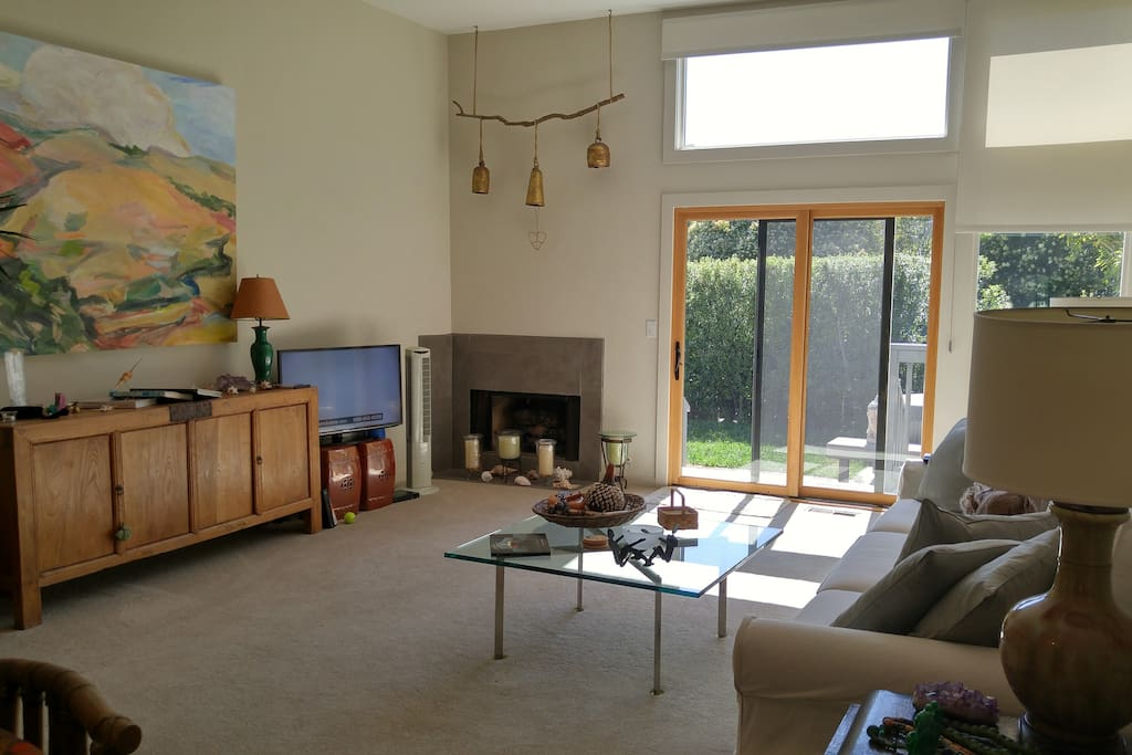 Living room with Mt. Tam view