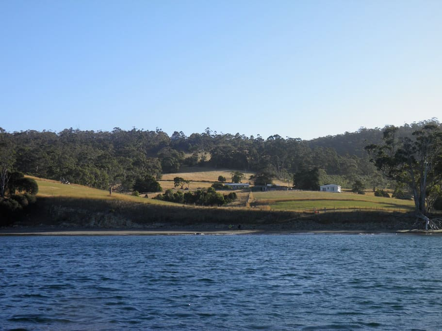 The farm from the water