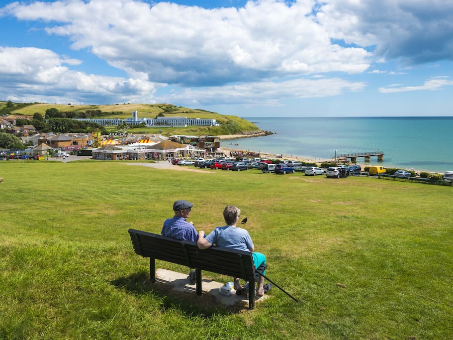 Relaxed views over Bowleaze Cove