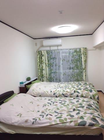 春意盎然的公寓、距离博多站步行5分钟。干净,舒适,家电一应俱全。 - Fukuoka-shi - Daire