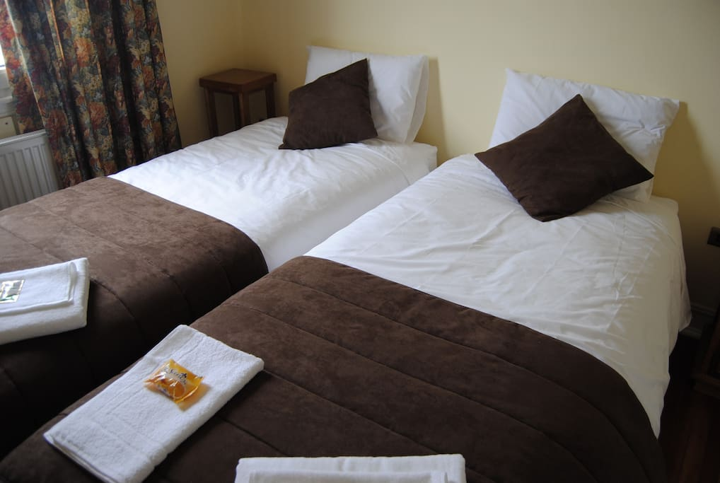 The other room can be a King bed or Twin beds.