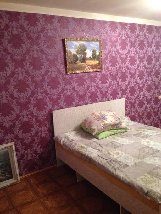 спальня кровать постельное бельё
