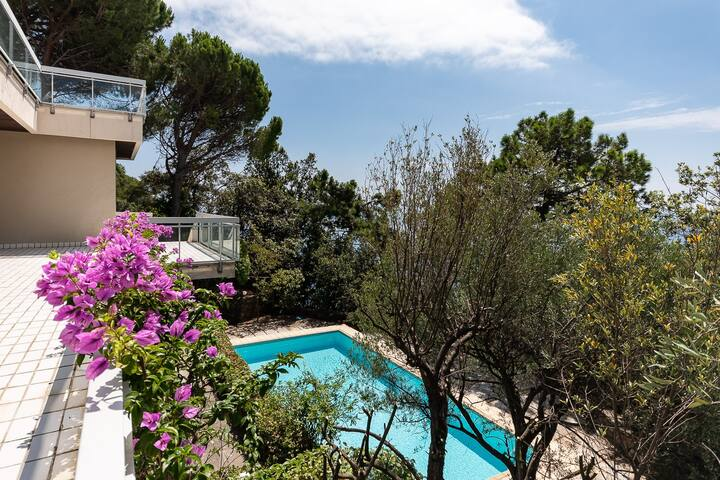 Villa Elisabetta, swimming pool, sea view