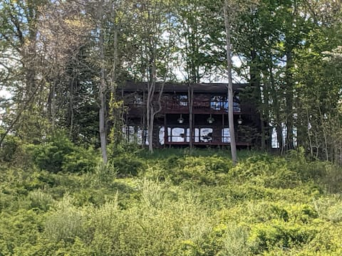 Secluded forest retreat with view