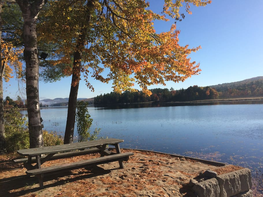 Fall day at the water front
