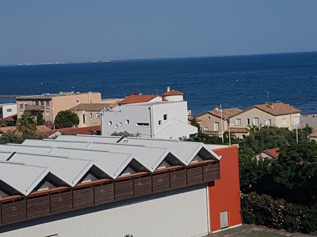 Studio vue mer Carnon plage