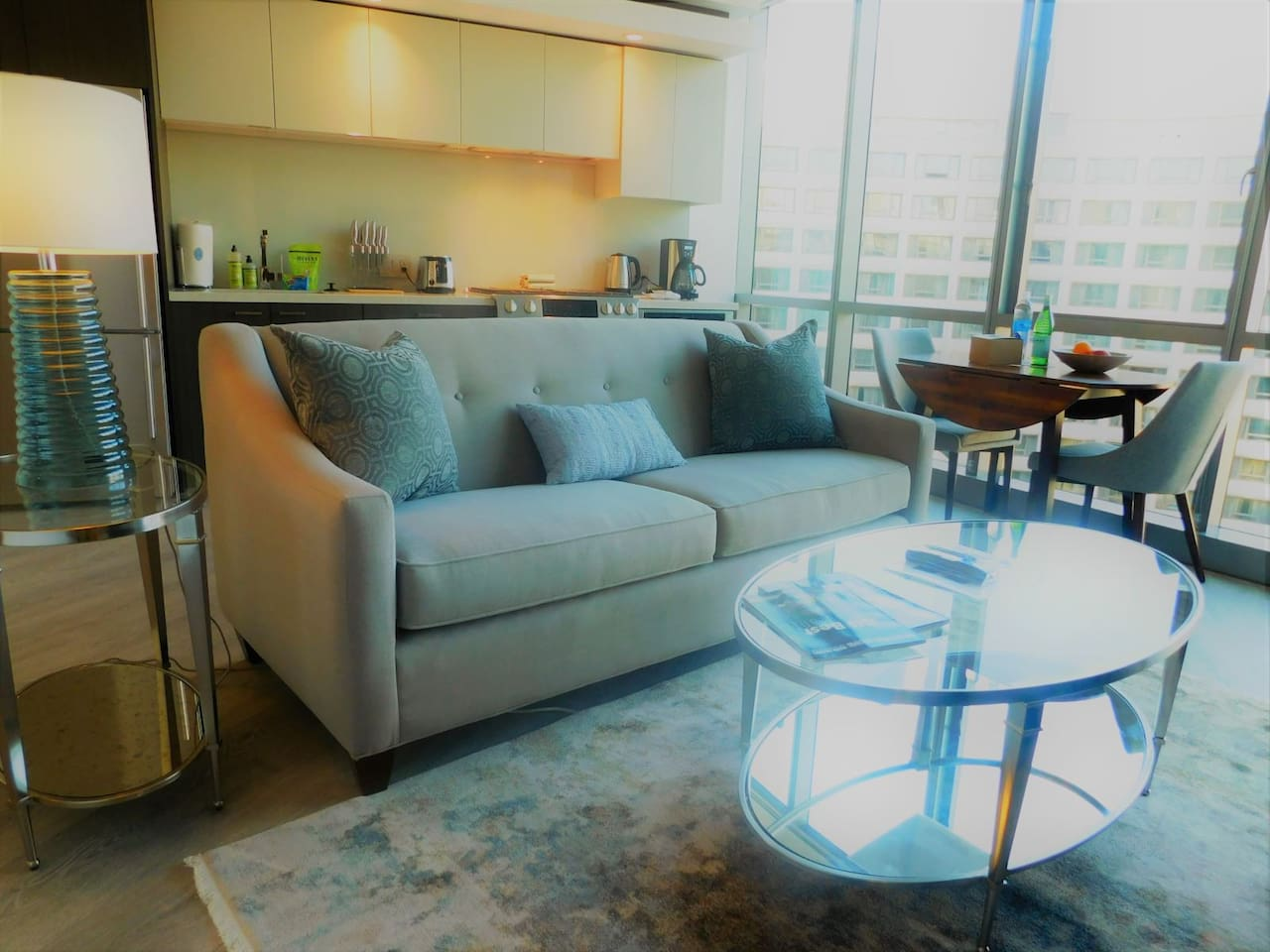 Welcome to chic city living! We are all about creating a space that fits YOU.