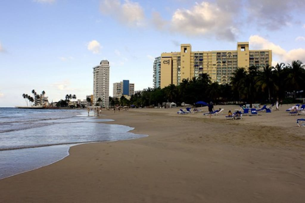 Isla Verde beach just steps from The Beach House