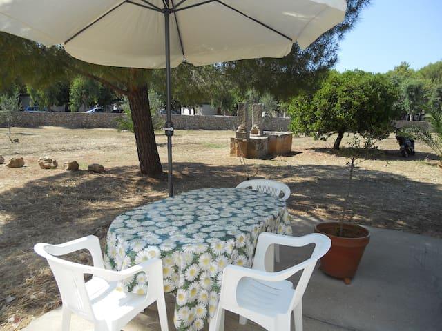 Gli spazi per il pranzo e soggiorno all'aperto
