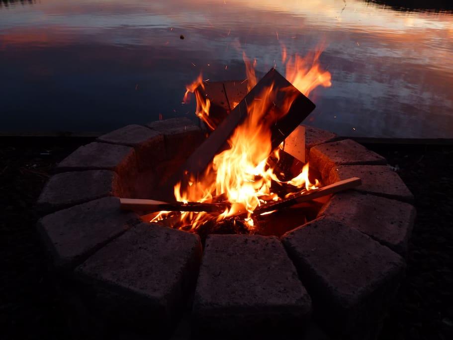 Evenings need a beach fire