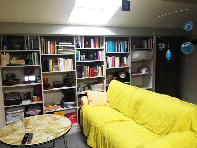 Chambre dans espace prive ouvert de 34 M2