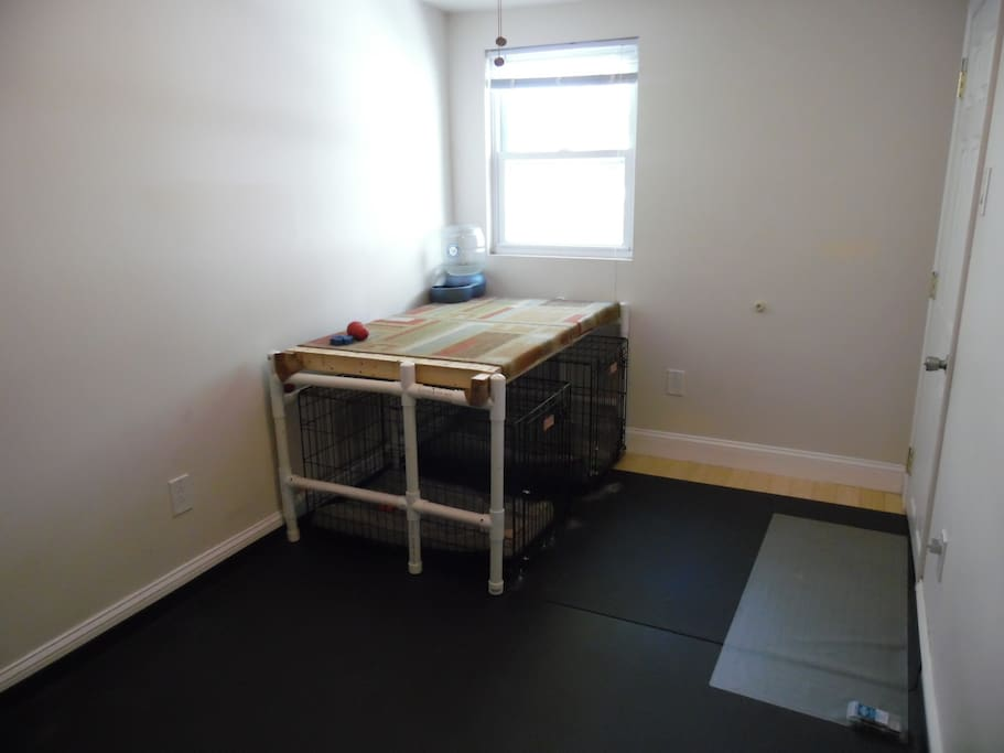 This is the room available, it will fit an air mattress of any size. (If you don't have one, we can provide you with one)