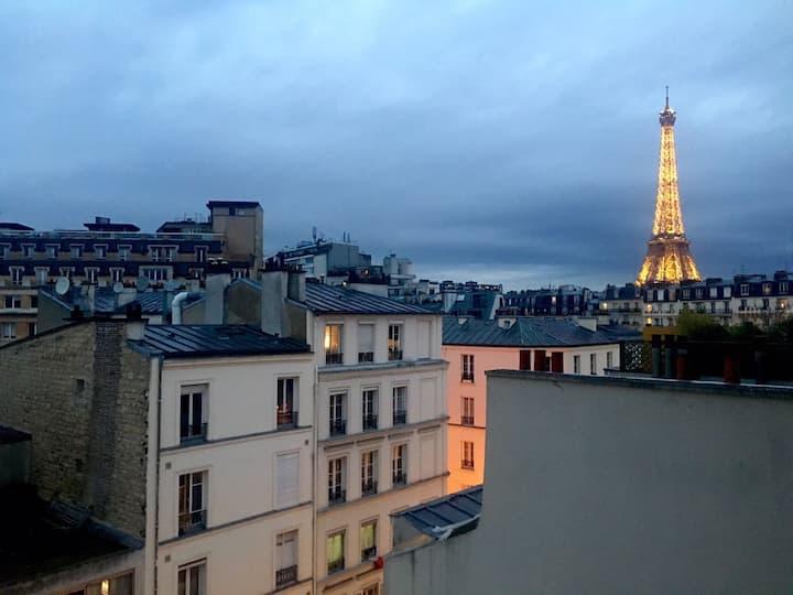 Studio indépendant proximité Tour Eiffel