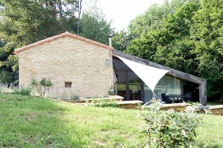 Landelijk gelegen, comfortabel natuurstenen huisje - Saint Front sur Lémance - Casa