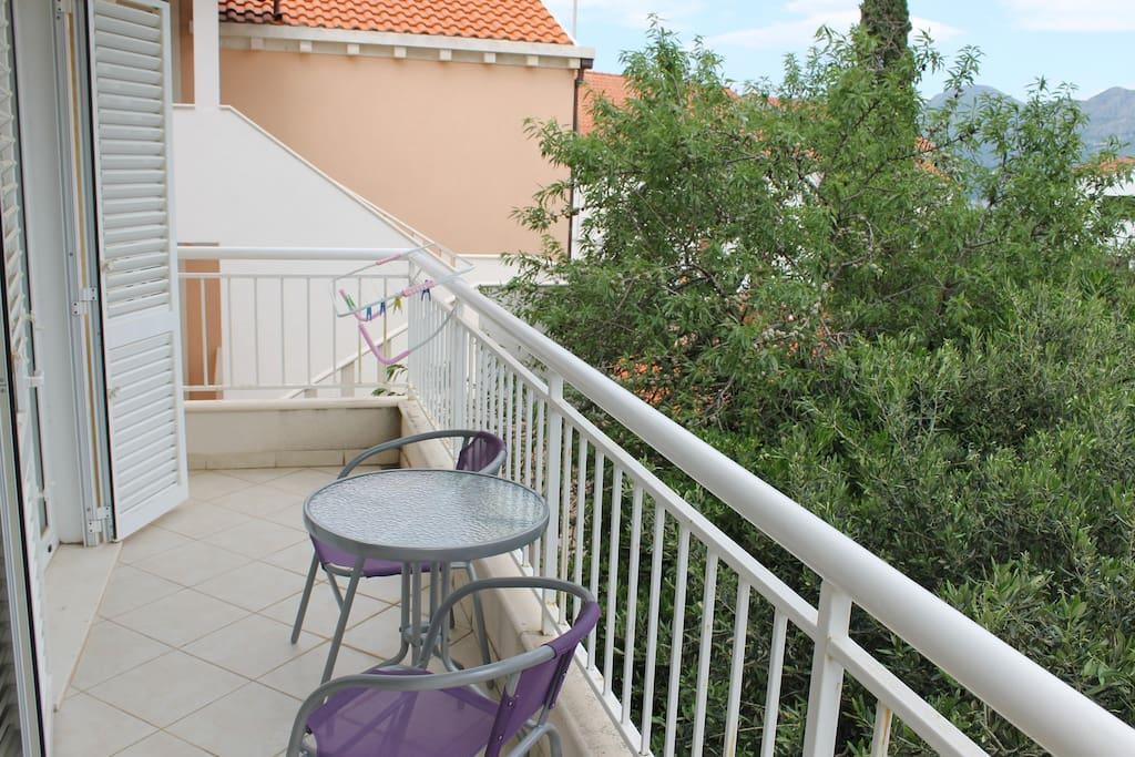 Balcony - hidden from the summer heat