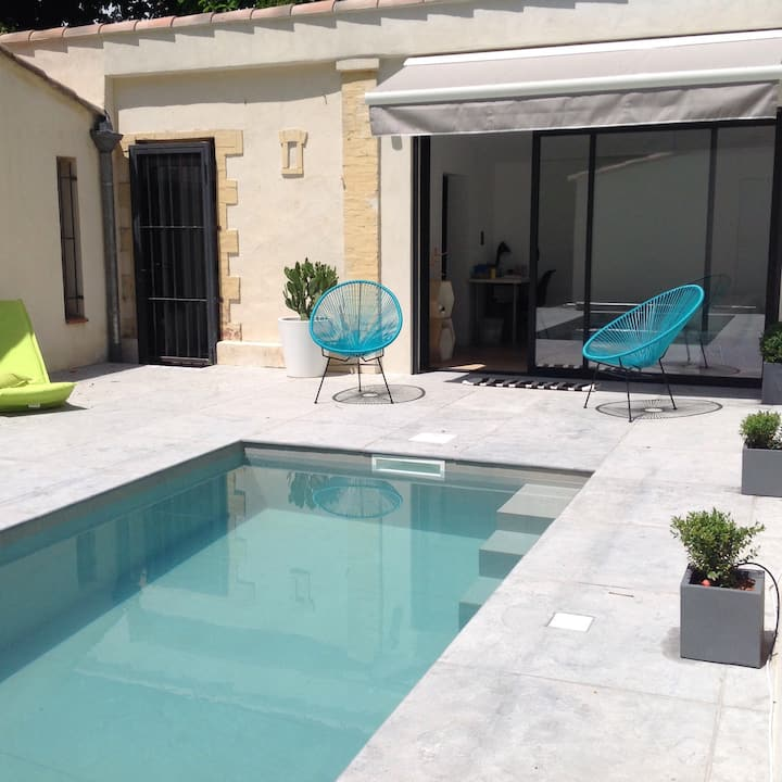 Renovated Provencal house -Swimming pool -Downtown