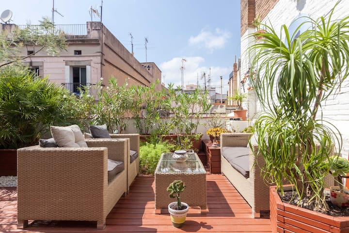 City center, 2 bedrooms, 100m2 of Terraces - Barcelona - Byt