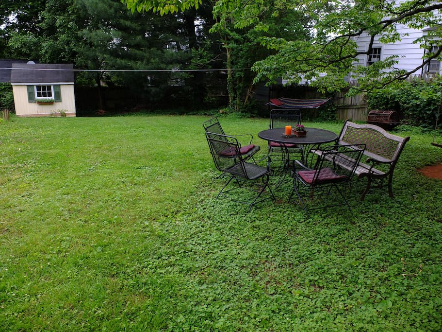 Enjoy the private back yard.
