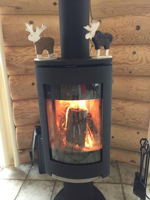 un accueil chaleureux au vrai feu de bois