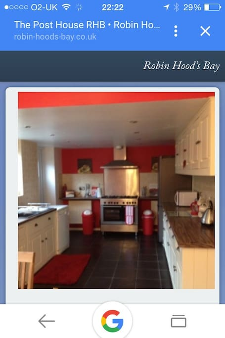 Wonderful kitchen  Fully equipped and ready to cook on a great two oven stove