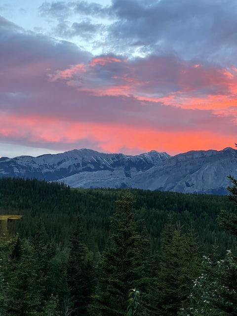 Jasper East's.  best mountain view suite