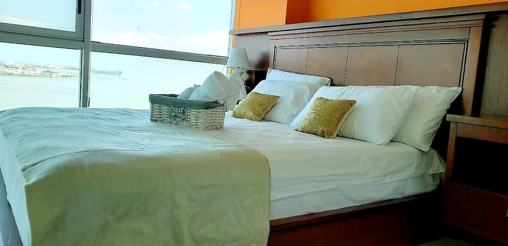N°2 Bedroom with private bathroom. Queen size bed. Direct Tv and 20 MB high speed Internet Wifi