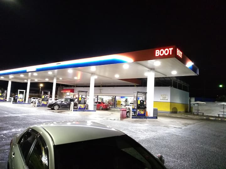 Boot Gas Station! (The meeting spot)