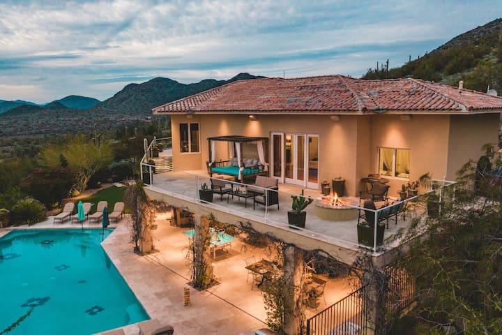 *GETAWAY* Huge Desert Villa w/ Tennis Court, Pool, Firepit ❤ by AvantStay