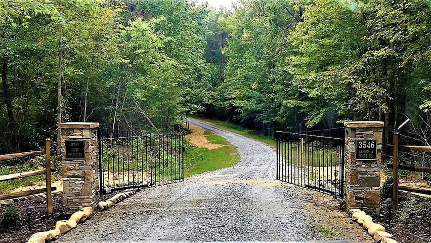 Gated Entrance onto Property