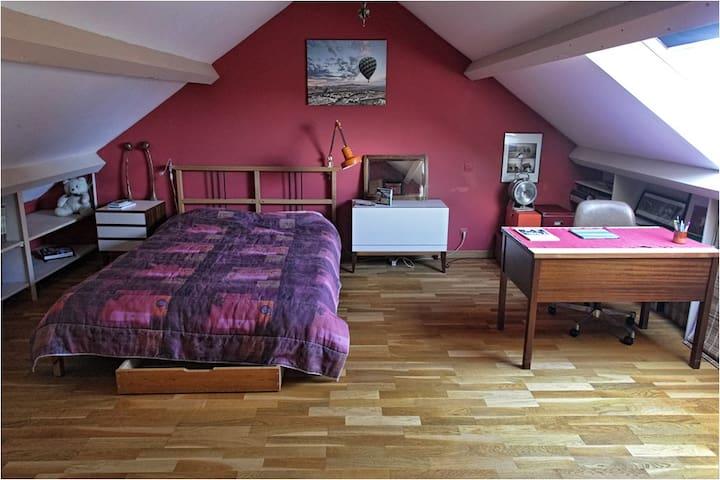 Belle chambre très spacieuse au calme. - Saint-Sébastien-sur-Loire - Casa