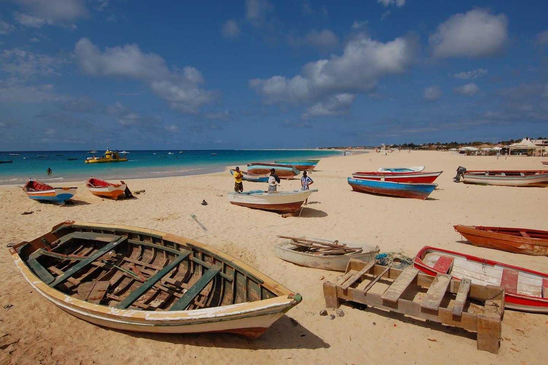 Fishing boats on Santa Maria Beach