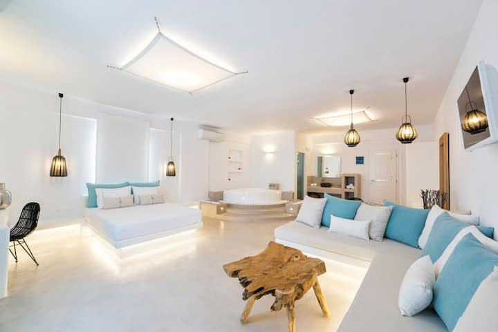 Anna Platanou Luxury Suite Sea View-Indoor Jacuzzi