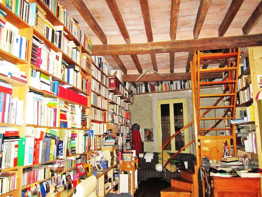 Ingresso con 5mila libri (ora meno in disordine) =)