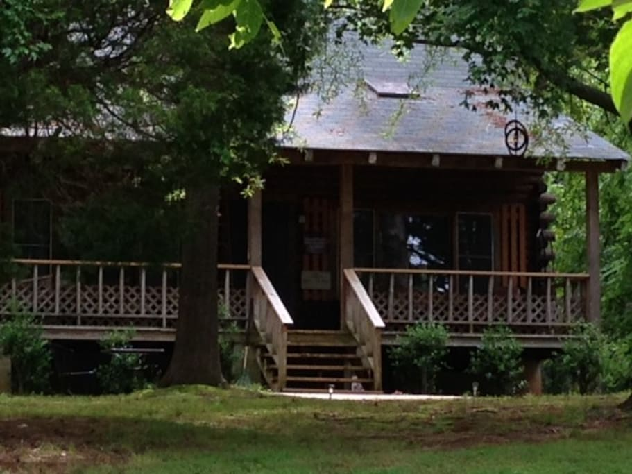 Log Cabin On Private Lake Cabins For Rent In Cedar Grove