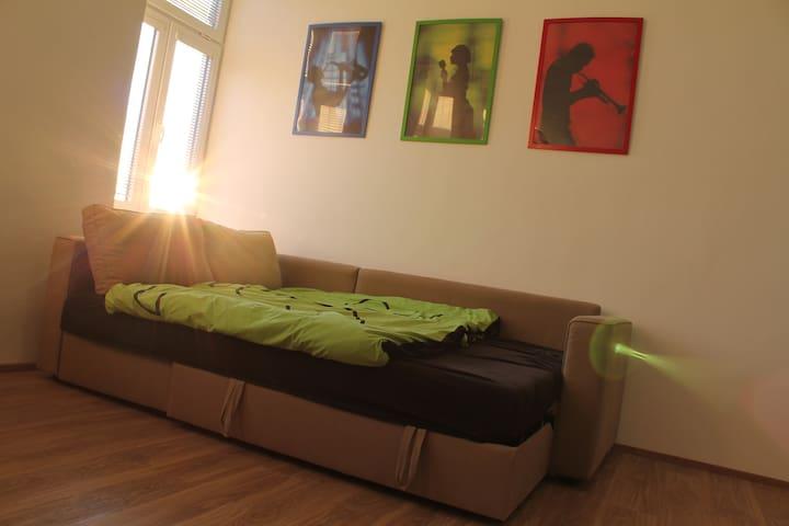 Sunny room 10 minutes walk from city center - Brünn - Wohnung