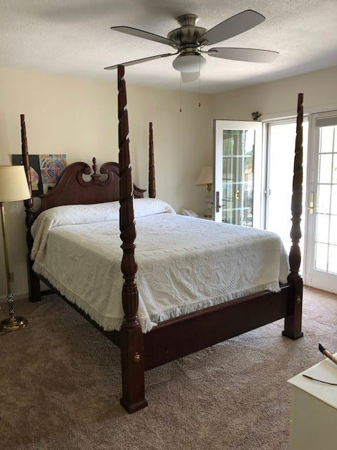 Benicia Private Master Bedroom with deck