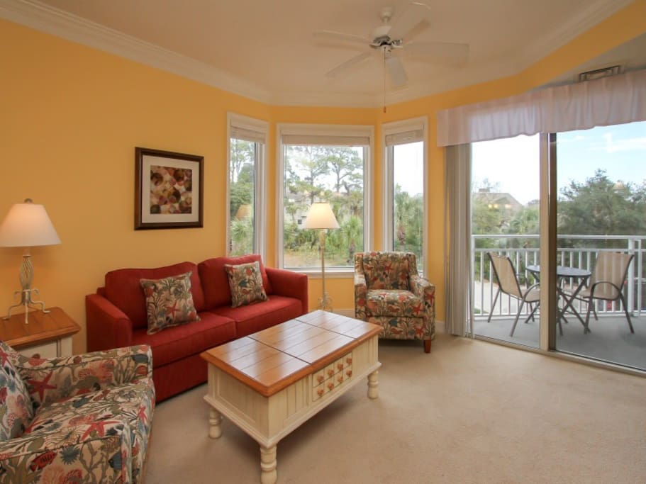 Living Room with Flat Screen at 2211 Sea Crest