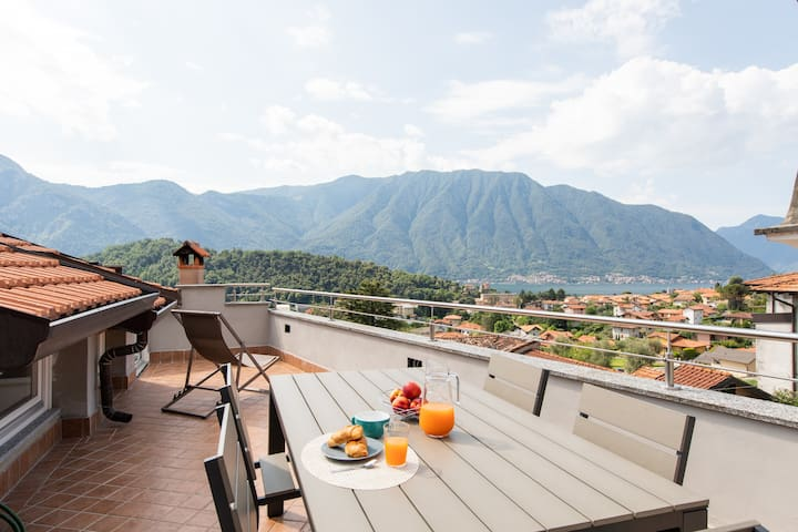 Terrace on the roof, Wonderful lake view