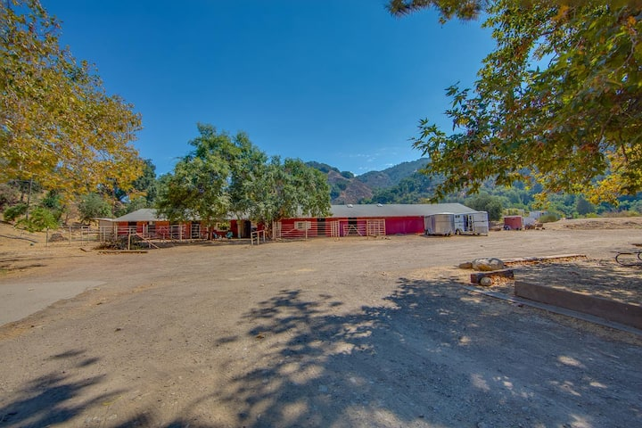 Tranquil Stay on Horse Property with 28 Stalls...