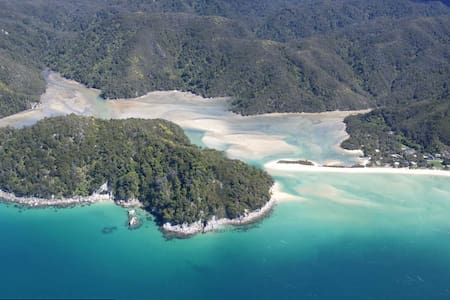 Fernbank In the Middle of the Abel Tasman NP